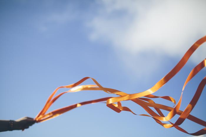 orange dancing in the wind